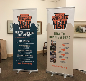 Hunters Sharing the Harvest Pop-Up Banners