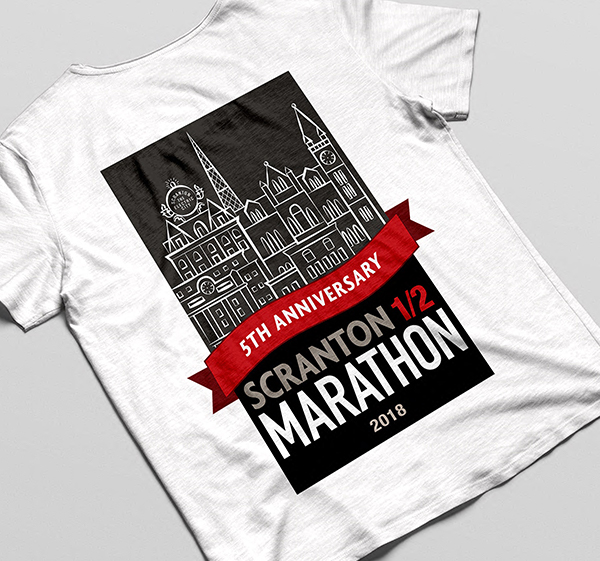 Scranton Half Marathon 5th Anniversary Logo